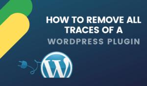 Cómo eliminar todos los rastros de un plugin de WordPress