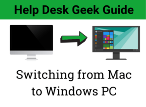 ¿Cambiar de Mac a Windows?  Lo que necesitas saber
