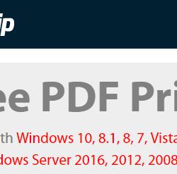 7 escritores de PDF e impresoras de PDF gratuitos