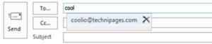 Borrar dirección de correo electrónico de Autocompletar