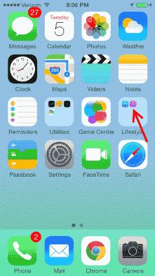 Icono de iTunes Store en la carpeta