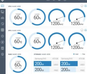 Datos de la CPU de la leva NZXT