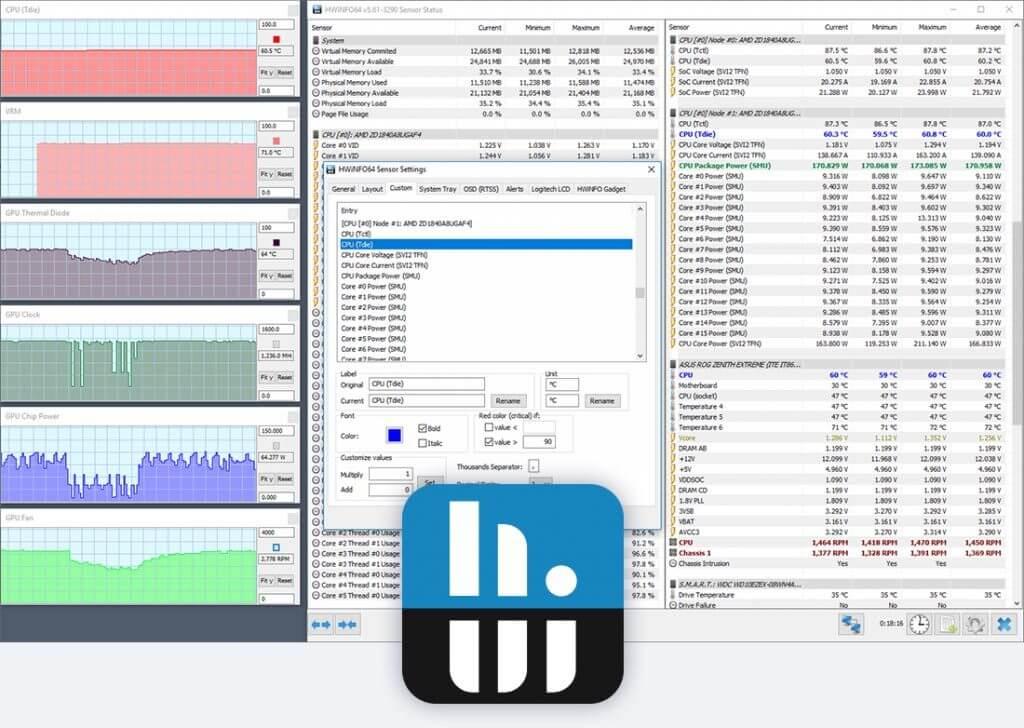 Datos de CPU de información de hardware