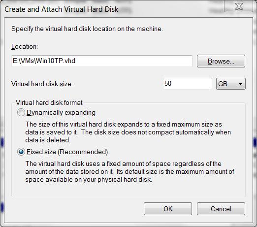 2014 10 01 12 05 40 Creación y conexión de disco duro virtual: arranque VHD nativo en Windows 10 Vista previa técnica Arranque dual con Windows 7 o Windows 8