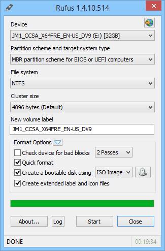 Rufus 1.4.10.514 2014 10 01 10 58 14 - Arranque nativo de VHD en Windows 10 Vista previa técnica Arranque dual con Windows 7 o Windows 8