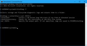 Línea de comandos de Windows 10: StorDiag.exe para diagnosticar problemas del sistema de archivos y del disco duro