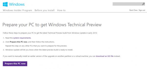 Descargar Windows Technical Preview November Update Microsoft Windows 2014 12 23 13 47 36 600x283 - Prepare la computadora con Windows 7, 8.1 para obtener la última compilación de Windows 10 a partir de Windows Update