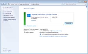 Cómo desinstalar para eliminar la vista previa técnica de Windows 10 de Windows Update en Windows 7 y 8.1