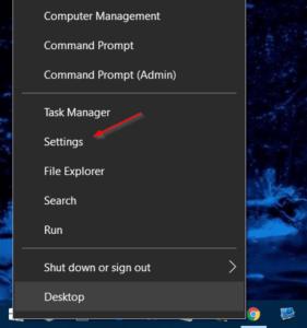 Cómo reemplazar la configuración con el panel de control en el menú Win + X en Windows 10 o viceversa