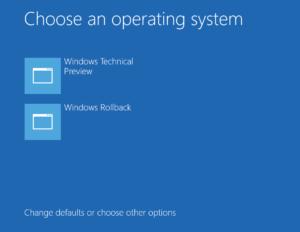 Cómo desinstalar la vista previa técnica de Windows 10 y volver al sistema operativo anterior