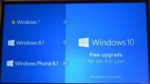 Microsoft Windows 10 será una actualización gratuita para todos los clientes que ejecuten Windows 7 y superior