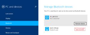 ¿Dónde está el botón de conexión de Bluetooth en Windows 7, 8 y Windows 10?