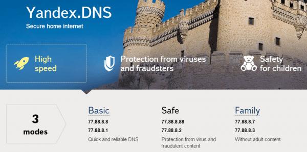 Yandex.DNS 2014 02 19 10 45 37 600x298: posiblemente la forma más segura de navegar por la web sin ser atacado